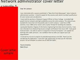 network administrator cover letter   network administrator cover letter