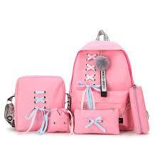 5pcs/set <b>Canvas</b> School Backpack <b>Mochila Feminina</b> Backpack ...