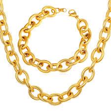 2016 Men Necklace Bracelet <b>Set</b> Hiphop Stainless <b>Steel Set</b> For ...