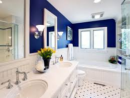 blue bathroom tile ideas: bathroom black polka dot pattern white ceramics floor tile with beach home decor bohemian