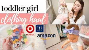 HUGE <b>TODDLER</b> GIRL <b>CLOTHING</b> HAUL 2019 | CUTE BABY ...