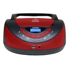 <b>Магнитола Telefunken TF-CSRP3497B</b>, <b>черный</b> с красным ...