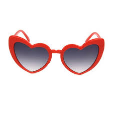 <b>Women's Heart</b> Shaped <b>Sunglasses</b> - Wild Fable™ Red : Target
