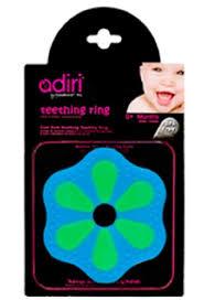 <b>Прорезыватель</b> для зубов <b>Adiri Petal Teething</b> Ring, green-cyan