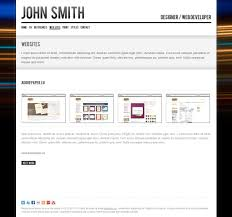 john smith personal cv portfolio website template by odincov john smith personal cv portfolio website template