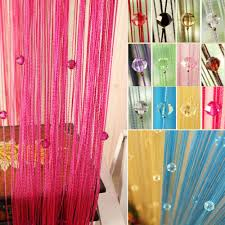 hot sale romantic beads design beaded crystal curt cheap office partition