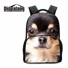 <b>Dispalang pug dog</b> poodle prints 17 inch backpacks for teenagers ...
