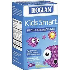 Bioglan <b>Kids Smart Hi</b> Dha-Omega3 Fish Oil, 500 Mg, Berry Flavor ...