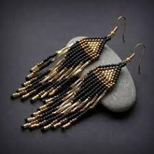 """Длинные серьги из бисера """"<b>Серебристые</b>""""   beading and crafts ..."""