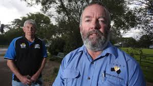 appin miner sacked for undies protest illawarra mercury cfmeu members lee webb and dave mclachlan on wednesday picture robert peet