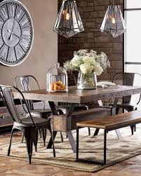dining table interior design kitchen: warm industrial dining room table amp chairs amp lighting