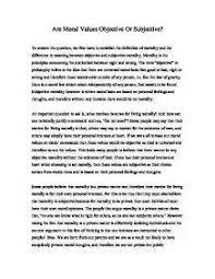 Moral values essay writing