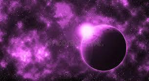 Планета фантазии круглая в фиолетовой будущей галактике ...