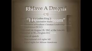 rhetorical analysis of i have a dream rhetorical analysis of i have a dream