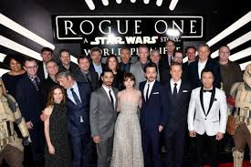 rogue one premiere photos star wars arrives in hollywood cast carries rogueonemovie which pushes limits of pixel overload felicity jones diego luna mads mikkelsen ben mendelsohn tops