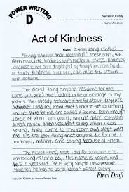 free kindness essay   example essays a simple act of kindness essays