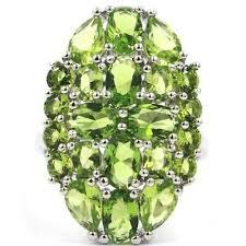 26x17mm <b>SheCrown</b> Pretty Green Peridot Woman's Wedding 925 ...