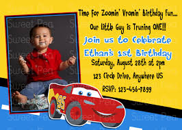 disney cars 1st birthday party invitations disney cars pixar disney car 39 s 1st birthday invitation or thank by periwinklepapery