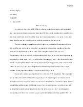reflective essay course