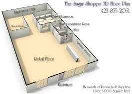 awesome 3d bakery floor plan designer the sugar shoppe chattanooga tennesse floor plan awesome 3d floor plans