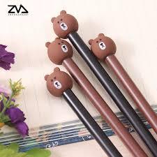 <b>4pcs</b>/<b>lot cute creative</b> stationery bear pen kawaii black neutral pen ...