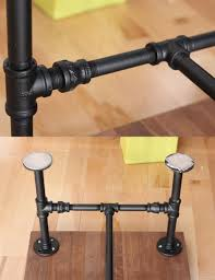 diy black iron pipe table no tools only 1 screwdriver home sweet home pinterest pipes pipe table and irons black iron pipe table
