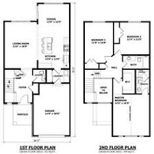 ideas about Modern Floor Plans on Pinterest   Vintage House    Modern Floor Plan First And Second Two Story House Plans   houseplan