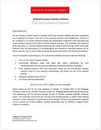 political economy summer institute call for letters of interest call for letters of interest