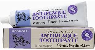 Trader Joe's <b>Natural Antiplaque</b> Toothpaste with Fennel, <b>Propolis</b> ...