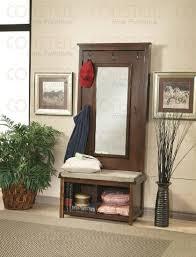 get quotations walnut finish hall tree coat hanger with storage bench alba chromy coat tree knobs