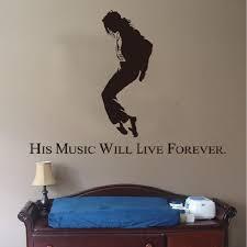 Removable <b>3d michael jackson wall</b> sticker home decor adhesive ...