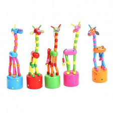 Fancyleo Kids Intelligence <b>Toy Wooden</b> Dancing Giraffe Push ...