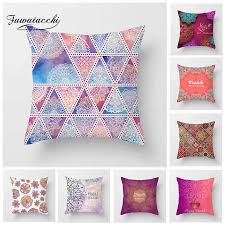 <b>Fuwatacchi Geometric</b> Cushion Cover Ethnic Style Golden Printed ...