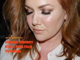 copper smokey eye full face tutorial makeup for redheads