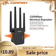 <b>COMFAST Wifi</b> מהדר CF <b>WR754AC</b> 1200Mbps בית אלחוטי <b>WiFi</b> טווח ...