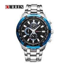 <b>Curren 8023</b>-6-Silver/Blue/Black Stainless Steel <b>Watch</b> – <b>Watch</b> ...