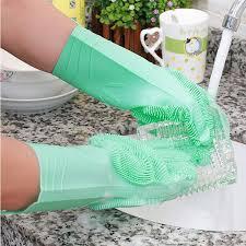 Волшебные многоразовый <b>силикон перчатки</b> Чистящая Щетка ...