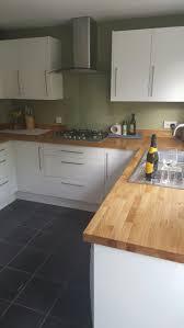 kitchen worktops ideas worktop full: oak worktops with white gloss frontals