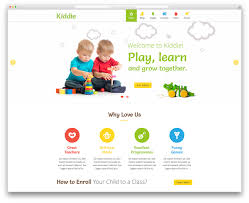 top colorful kindergarten wordpress themes colorlib kiddie creative kindergarten wordpress website template