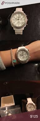accessories glasgow box: michael kors watch white michael kors chronograph watch in like new condition box
