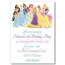 birthday invitation card disney princesses birthday invitations disney princess birthday invitation template