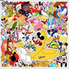 50Pcs <b>Disney Cartoon</b> anime Stickers <b>Marvel</b> Frozen Mickey Toy ...