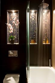 asian bath with lighted recessed shelves asian bathroom lighting