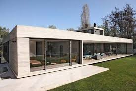 Marvellous Design Ideas Of Mini st House Plans With Glass Wall        Wall Panels Good Looking Design Ideas Of Mini st House Plans With Rectangle Shape White Concrete House And Combine