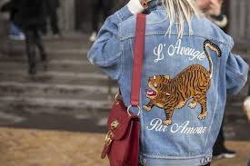 Image result for embroidery on back of denim jacket