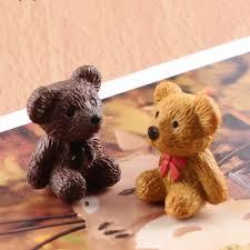2Pcs Mini Resin Bear Doll Mill Garden Miniatures Gnome Moss ...