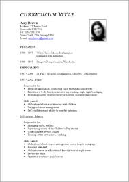 resume standard resume format template