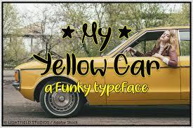 My <b>Yellow Car</b> Font | dafont.com