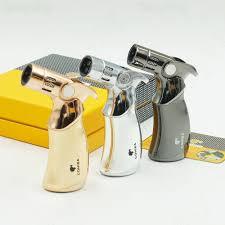 <b>COHIBA</b> Gun Metal 4 <b>TORCH JET</b> FLAME Gas Butane <b>CIGAR</b> ...