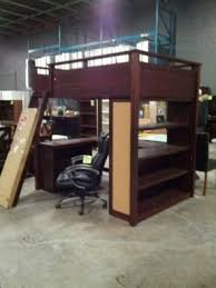 double bunk bed with desk underneath bed with office underneath